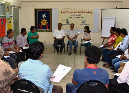 Study Circle with young Trade Union leaders