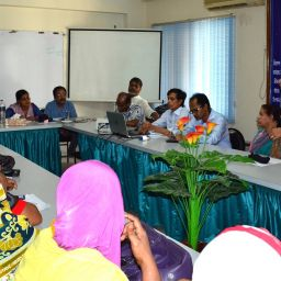 Opinion sharing meeting between Oxfam Australia, Oxfam Bangladesh representatives and DWRN leaders.