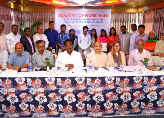 Certificate distribution ceremony on Education-Training Programme of Academy of Work