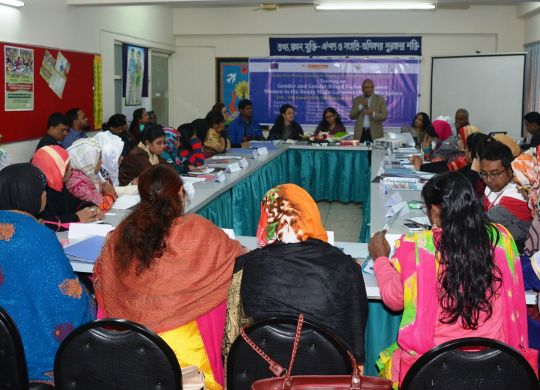 Participants in the Training  on gender and protesting gender based violence at workplace