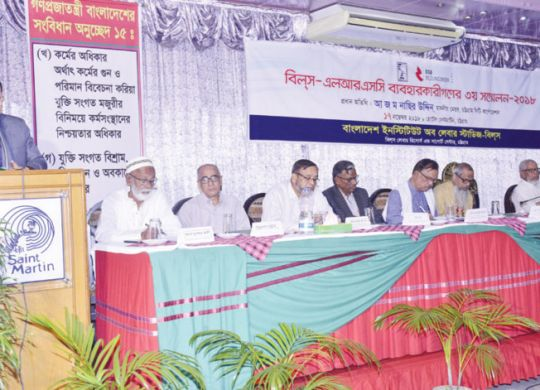 Chittagong City Corporation Mayor A Z M Nasir is delivering his speech