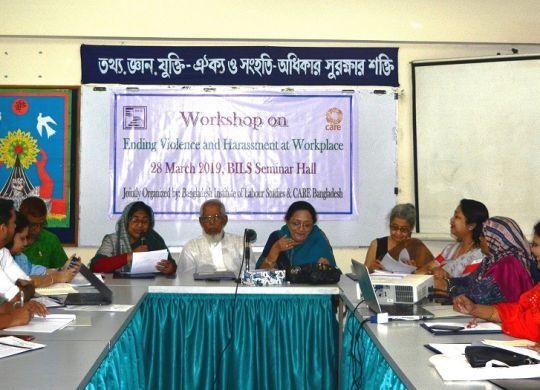 Workshop on Ending Violence and harassment at Workplace